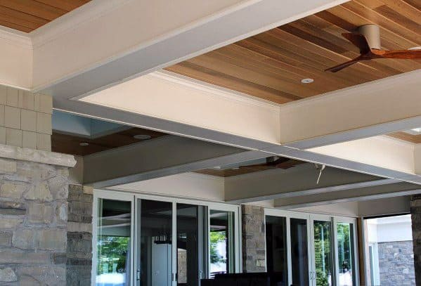 House Coffered Porch Ceiling Ideas