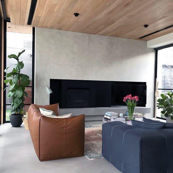House Concrete Fireplace Designs