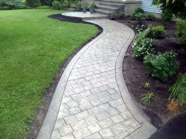 House Concrete Walkway Ideas