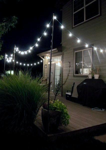 House Deck Globe String Lights Ideas