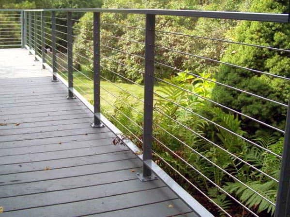 House Deck Railing Ideas Metal
