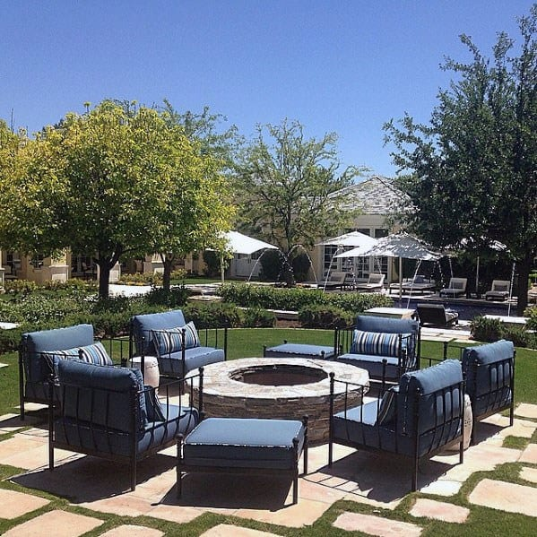 House Fire Pit Seating Ideas
