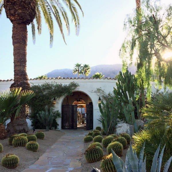 House Front Exterior Yard Desert Landscaping Ideas