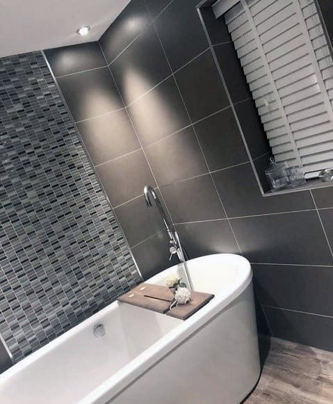 House Grey Bathroom Tile Ideas