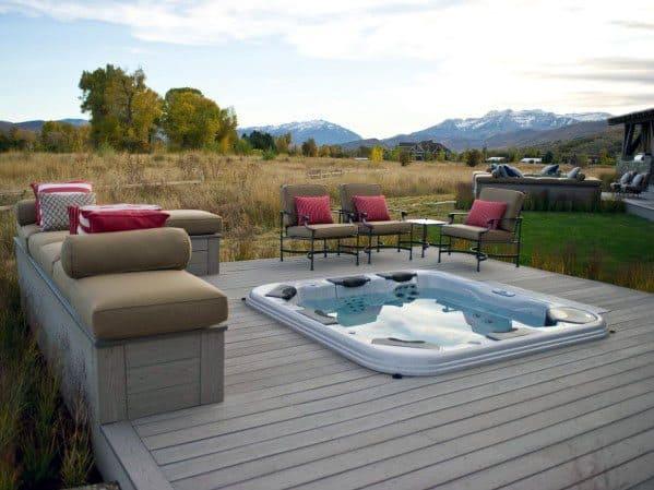 House Hot Tub Deck Ideas