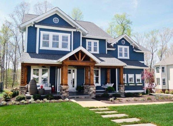 House House Paint Ideas Blue