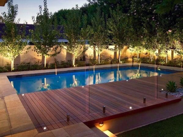 House Landscape Lighting Ideas Modern Pool