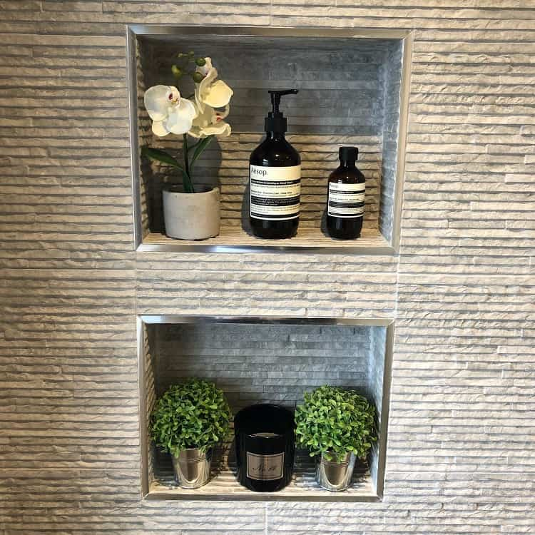 House Plant Decor Bathroom Recessed Shelves Thefostersresidence
