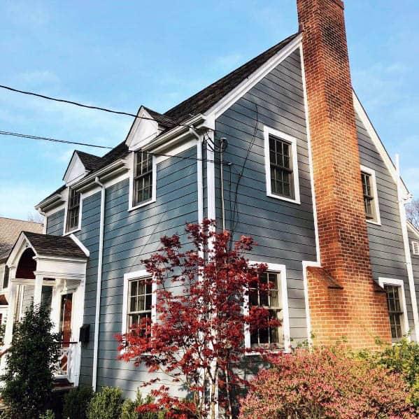 House Siding Exterior Ideas Blue