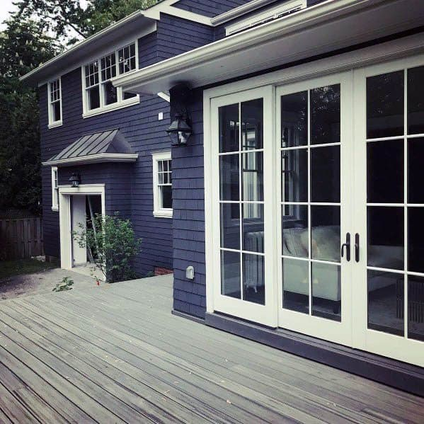 House Siding Idea Inspiration Navy Blue