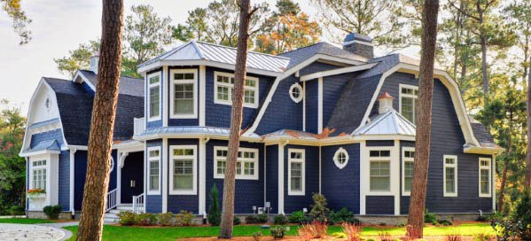 House Siding Ideas Inspiration Navy Blue
