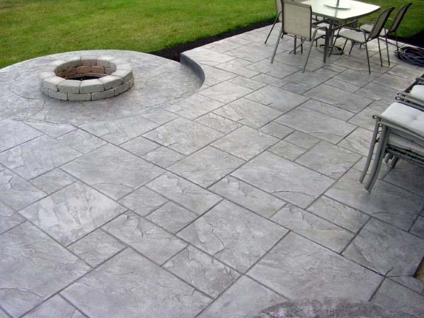 House Stamped Concrete Patio Ideas