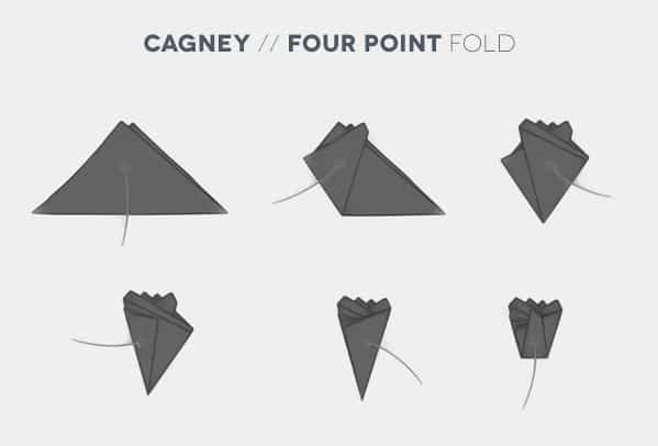 How To Fold A Cagney Four Point Pocket Square