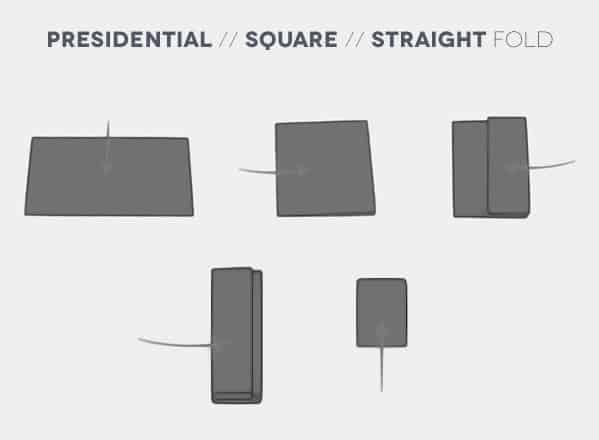 How To Fold A Presidential Square Straight Pocket Square