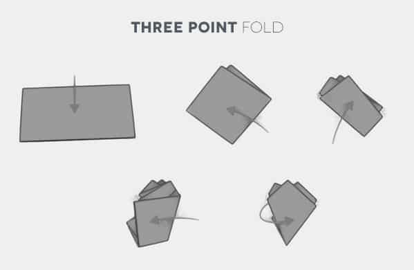 How To Fold A Three Point Pocket Square