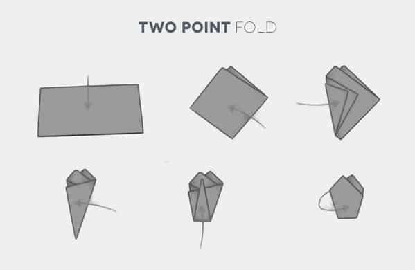 How To Fold A Two Point Pocket Square