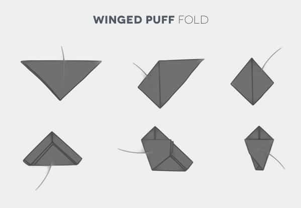 Image result for winged puffed pocket square