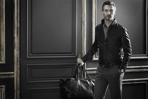 How To Wear A Leather Jacket Guy With Sharp Looking Leather Jacket Outfits