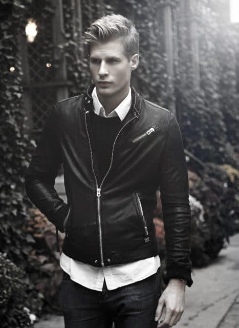 How To Wear A Leather Jacket Guys Leather Jacket Outfits Style Designs