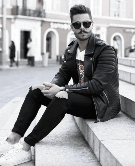 How To Wear A Leather Jacket Leather Jacket Masculine Outfits Style Ideas For Men