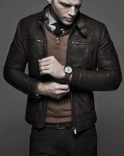 How To Wear A Leather Jacket Leather Jacket Outfits Styles For Gentlemen