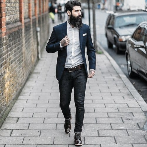 How To Wear Gentlemens Boots Outfits Style Ideas Navy Blazer With Jeans