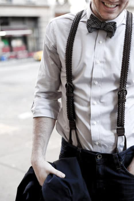 How To Wear Guys Suspenders With Jeans And Bowtie Outfits Style Fashion Inspiration