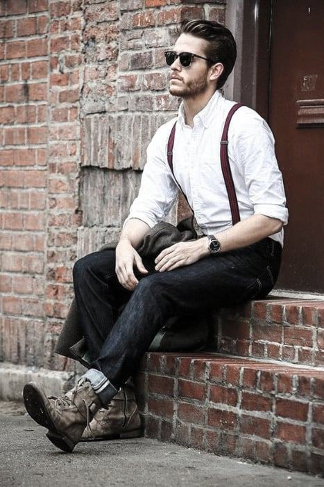 496e42ae8e How To Wear Suspenders With Jeans For Men 30 Male Fashion Styles