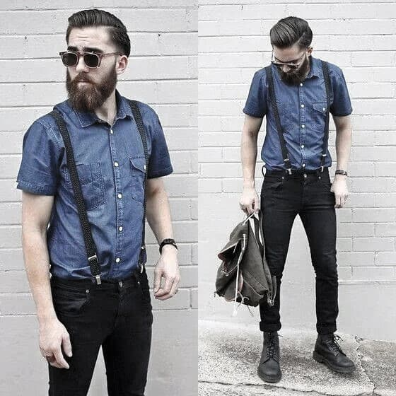 How To Wear Suspenders With Jeans Outfits Male Style