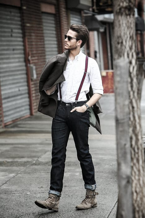 How To Wear Suspenders With Jeans Outfits Mens Style Ideas