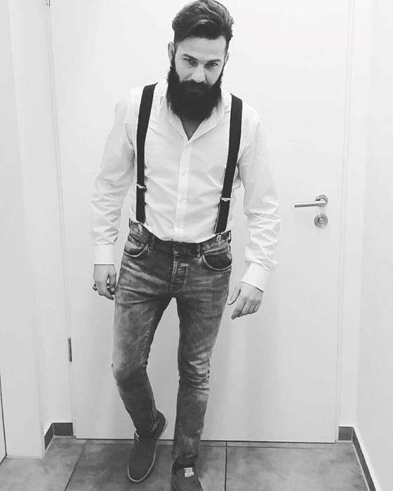 How To Wear Suspenders With Jeans Outfits Style Looks For Men