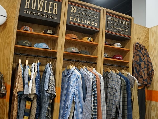 Howler Brothers Clothing Display Outdoor Retailer Winter Market 2018