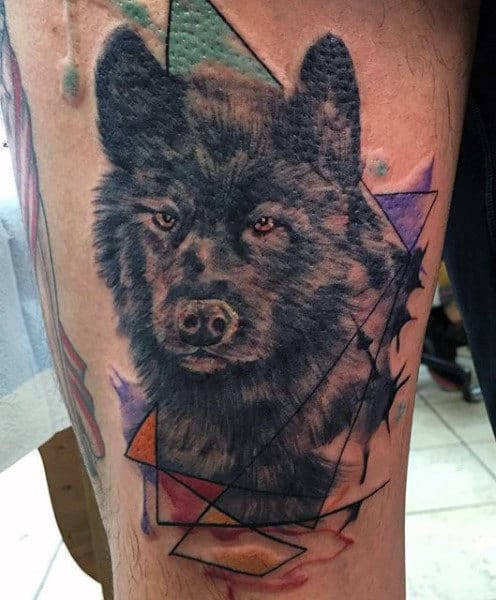 Howling Wolf Tattoo For Men