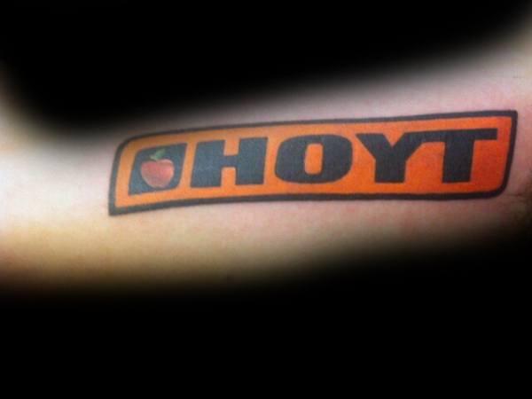 Hoyt Bowhunting Logo Mens Tattoo