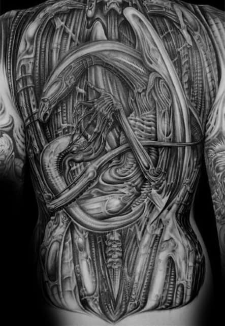 Hr Giger Guys Tattoos