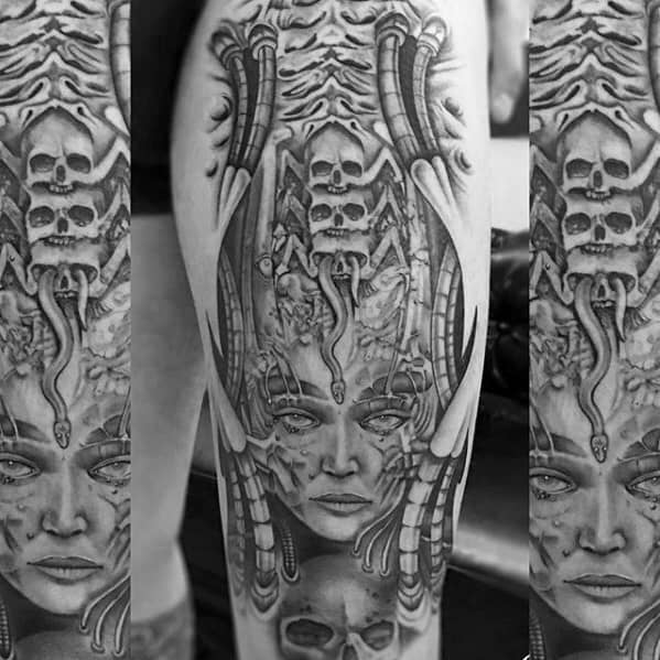 Hr Giger Mens Tattoo Designs