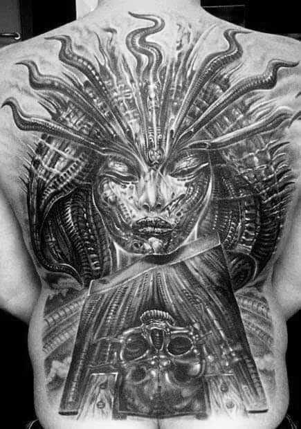 Hr Giger Mens Tattoo Ideas