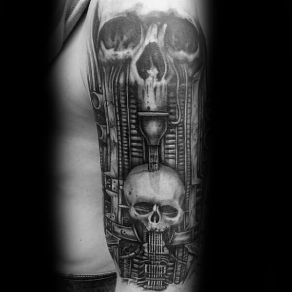 Hr Giger Tattoo Design On Man
