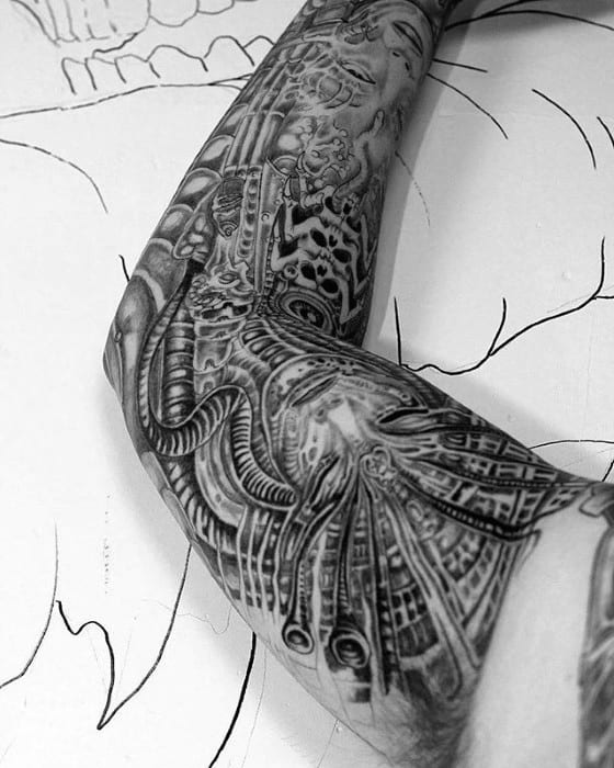 Hr Giger Tattoo Designs For Guys