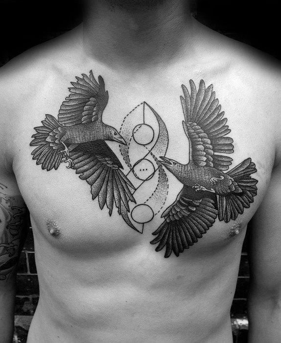 Huginn And Muninn Guys Odins Ravens Tattoo Designs
