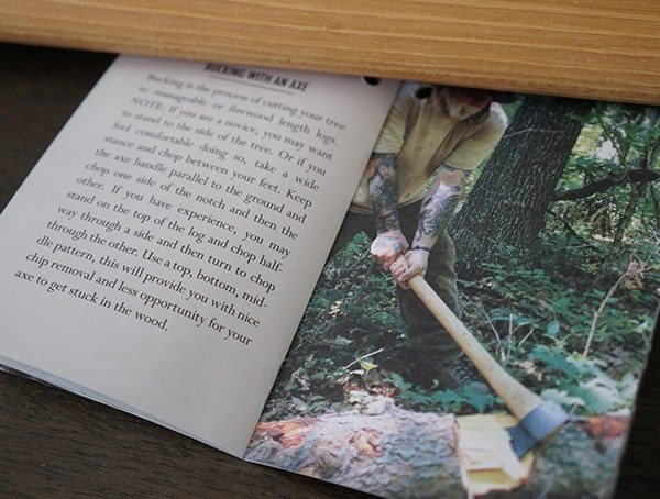 Hults Bruk American Felling Axe Booklet Bucking With An Axe