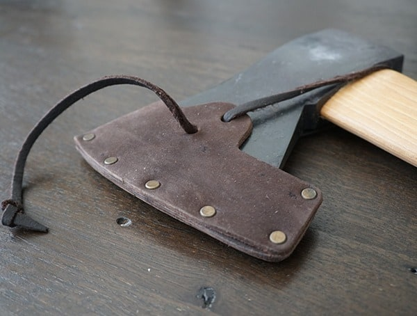 Hults Bruk American Felling Axe With Leather Sheath Attached