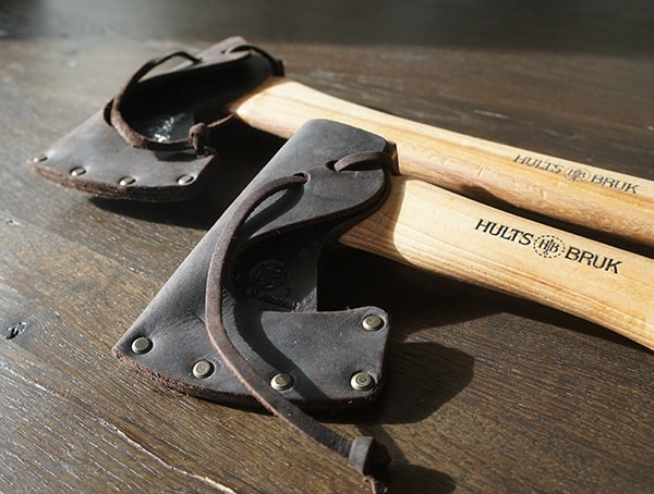 Hults Bruk Dark Brown Leather Protective Shealths