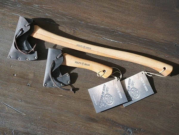 Hults Bruk Forester Axe And Jonaker Hatchet With Leather Shealths