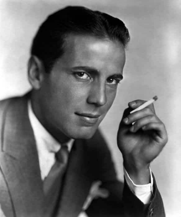 Humphrey Bogart With Historical 1930s Male Hairstyles