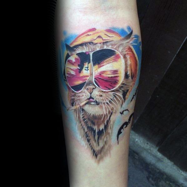 Hunter S Thompson Tattoo Designs For Gentlemen