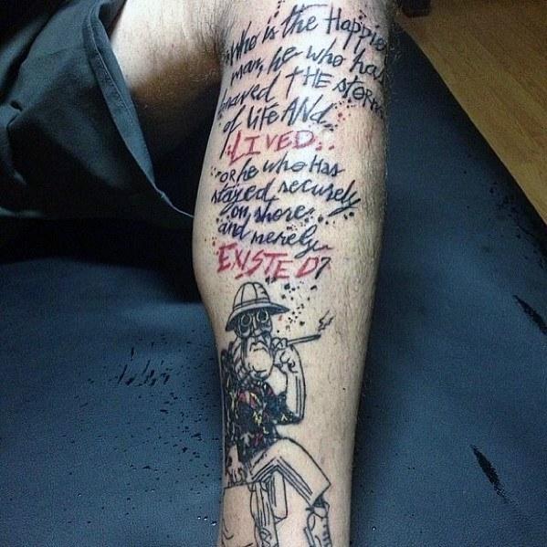 Hunter S Thompson Tattoo Designs On Men