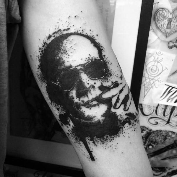 Hunter S Thompson Tattoo Fear And Loathing Design