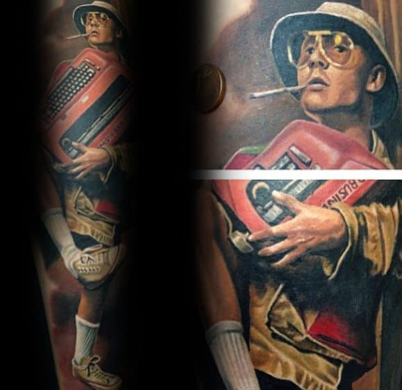 Hunter S Thompson Tattoo For Males