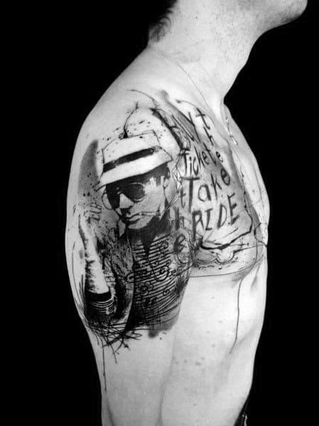 Hunter S Thompson Themed Tattoo Design Inspiration
